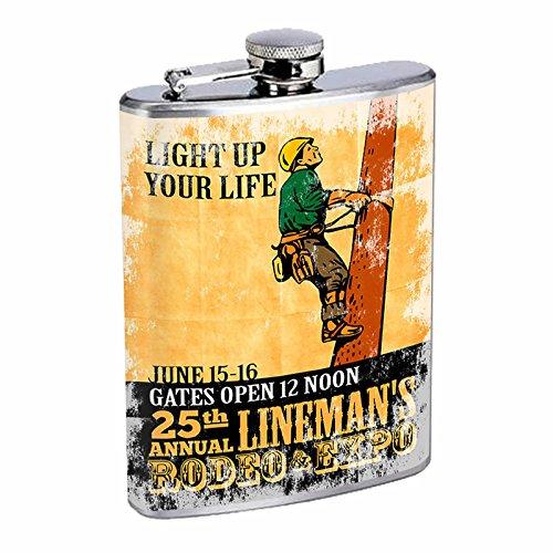 全商品オープニング価格! Perfection Inスタイルステンレススチールフラスコ8オンスビンテージポスターd-226 Light Annual Perfection Up Your 's Life 25th Annual Lineman 's Rodeo & Expo B016B7K2K8, 作業用品.安全保安用品 役立ーツ:3c53d756 --- timesheet.woxpedia.com