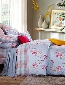 ZY/100% algodón Patrón Serie cama de 4piezas funda nórdica conjunto, Queen/King Size king
