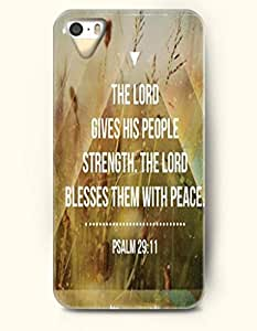 iPhone 4 4S Case OOFIT Phone Hard Case **NEW** Case with Design The Lord Giveshis People Strength The Lord Blesses Them With Peace Psalm 29:11- Bible Verses - Case for Apple iPhone 4/4s