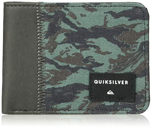 (Quiksilver Men's Slim Vintage Plus Wallet, dark forest, M)