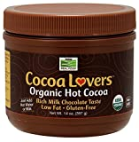 Cocoa Lovers Organic Hot Cocoa Now Foods 14 fl oz Powder Pack of 2