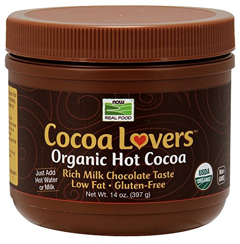 Cocoa Lovers Organic Hot Cocoa Now Foods 14 fl oz Powder Pack of 2 -  6671