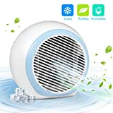 FITMAKER Personal Air Conditioner, Air Personal Space Cooler with Humidifier and Air Purifier USB Mini Portable Air Conditioner, Quick & Easy Way to Cool Any Space