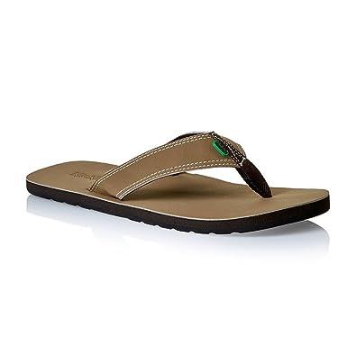 242d0aa6291ed Kickers Kick Back Summer Indoor Beach Flip Flop Slipper (Brown, Small, 5-
