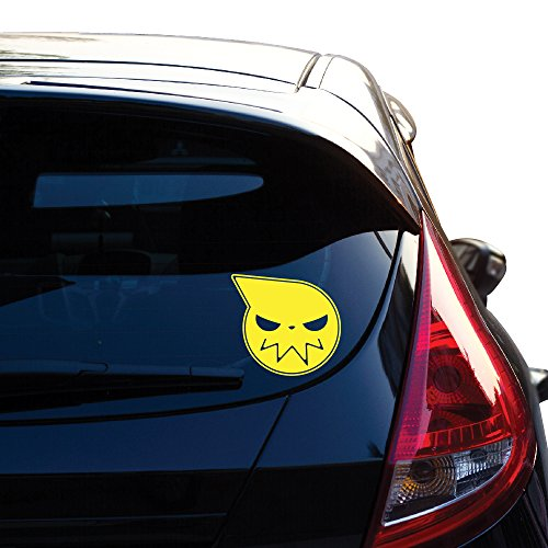 """Soul Eater Manga Anime Decal Sticker for Car Window, Laptop, Motorcycle, Walls, Mirror and More. 6"""" X 6.5"""" (Height X Width) # 516 (Yellow)"""