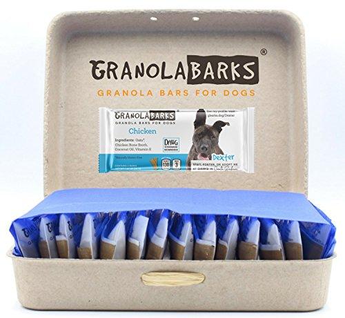 Granola Barks' Granola Bars for Dogs (Chicken, 28 Bars, 14 2-Packs)