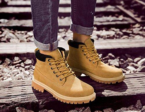 cuir 41 imitation khaki Les bottes chaud plein air d¨¦sert hiver en outillage r¨¦tro hommes d¨¦contract¨¦s en chaussures 66npwqOa