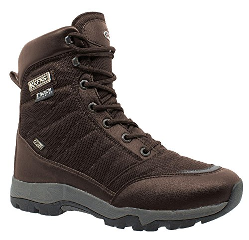 Snow Ice lining lock KEFAS Winter Brown K Man WARM Boot 3220 outsole thinsulate fWggT1qFn