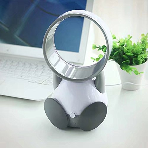 XHSP Mini Leafless Cooling Fan Portable Air Conditioner USB Desktop Personal Fan Radiator with Cartoon Silent Operation for Work And Study Sleep Home Outdoor Travel Office
