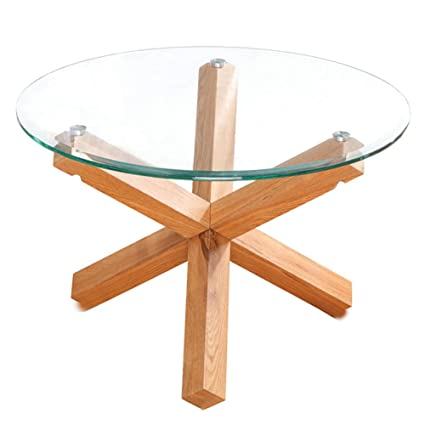 Oporto Glass Topped Round Tables Dining Coffee End