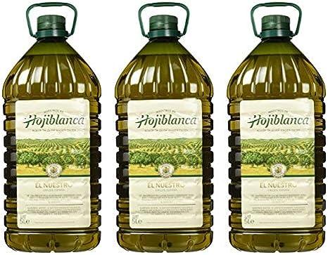 Aceite de Oliva Virgen Extra Español Hojiblanca 3x5L (Caja 3 Botellas): Amazon.es: Alimentación y bebidas