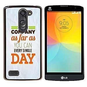 YiPhone /// Prima de resorte delgada de la cubierta del caso de Shell Armor - Compañía Día Inspiring Papel Mensaje Moderno - LG L Prime D337 / L Bello D337