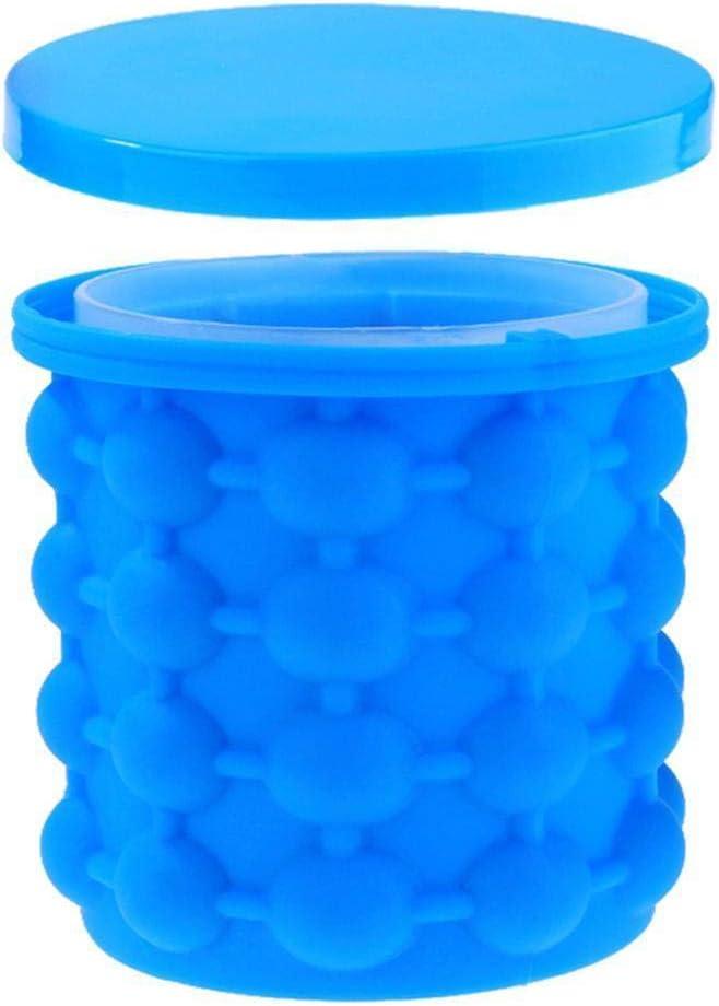 Silicone Ice Bucket The Magic Revolutionary & Space Saving Ice ...