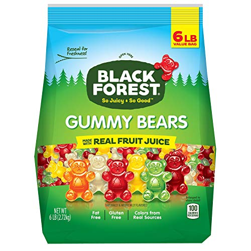 Black Forest Gummy Bears Ferrara Candy - 6 Pound Bag (3 Units Per Order)