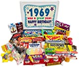Woodstock Candy 1969 Vintage Candy Assortment 51st Birthday Gift Box from Childhood for 51 Year Old Man or Woman Born 1969