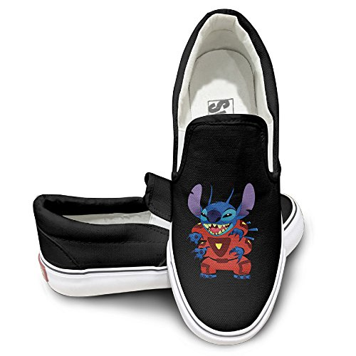 Furby Costume Amazon (GD Cool Stitch Fashion Unisex Flat Canvas Shoes Sneaker 43 Black)