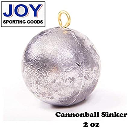 1oz Cannon Ball Sinkers Lead Fishing Weights 100pcs