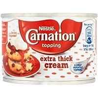 Nestlé - Carnation - Cobertura de nata extradensa - 170 g - Paquete de 3 unidades