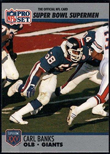 - Football NFL 1990-91 Pro Set Super Bowl 160 #94 Carl Banks NM-MT NY Giants