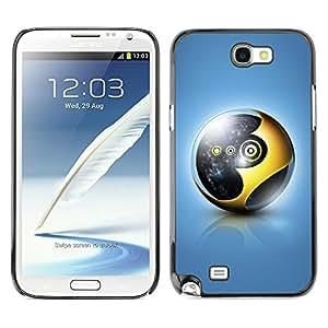 YiPhone /// Prima de resorte delgada de la cubierta del caso de Shell Armor - Gold Sphere - Samsung Galaxy Note 2 N7100