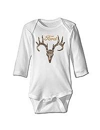 braeccesuit Baby Ford Deer Skull Long Sleeve Romper Onesie Bodysuit Jumpsuit