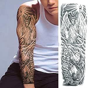 7pcs Tatuaje Tatuaje Tatuaje minimalista oro metálico grande Brazo ...