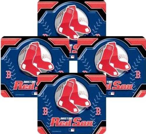 mlb-boston-red-sox-4-pack-sublimated-logo-neoprene-coaster-set