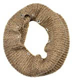 Sassy Scarves Womens Cold Weather Infinity Neck Warmer Muffler Scarf (Taupe/Camel-4594)