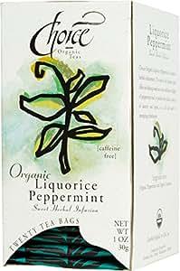 Choice Organic Liquorice Peppermint Tea, 20-Count Box (Pack of 6)