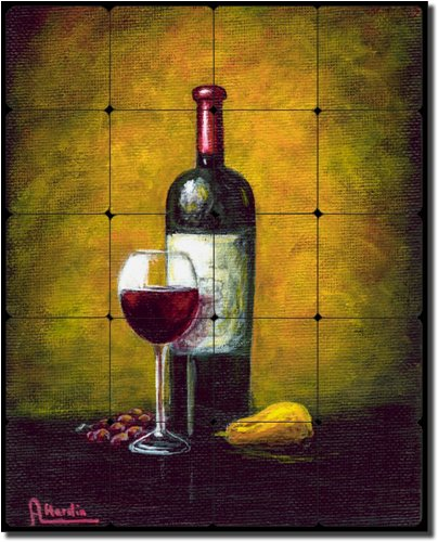 - Wine Glow by Angelica Di Chiara Hardin - Wine Tumbled Marble Tile Mural 30