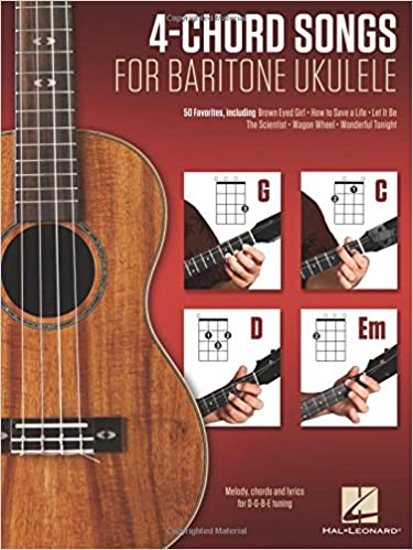 Amazon.com: 4-Chord Songs for Baritone Ukulele (G-C-D-Em): Melody ...