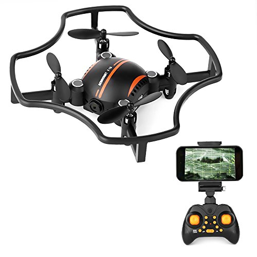 Mini RC Quadcopter with Camera, ASGO F19W 2.4GHz RC Drone with Vioce Control and Trajectory Flight Function (F19W) from ASGO