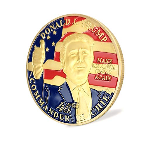 - Donald Trump 45th President Challenge Coin-United States Gold Plated,A Collection Item Designed The President