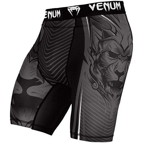 (Venum Bloody Roar Dry Tech Compression Vale Tudo Fight Shorts - XL - Gray)