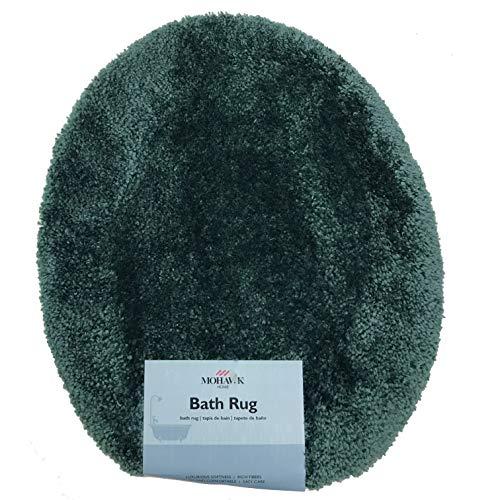 - Royale Hunter Green Plush Nylon Bath Rug (Standard Toilet Lid Cover)