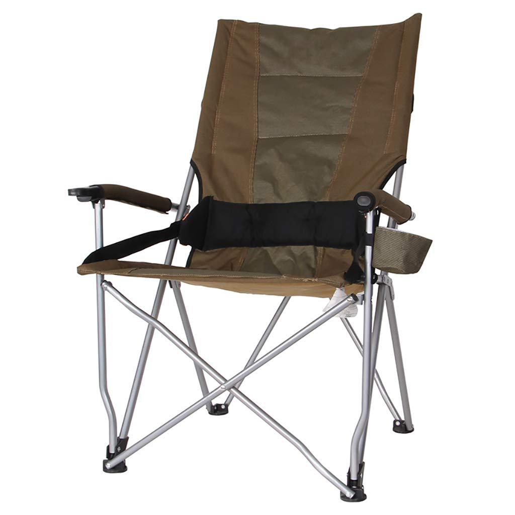 折りたたみチェアアームチェア 屋外折りたたみチェアハイバックレジャー釣りチェアバーベキュー自転車ビーチテーブルと椅子 (色 : C) B07SCW6PWL C