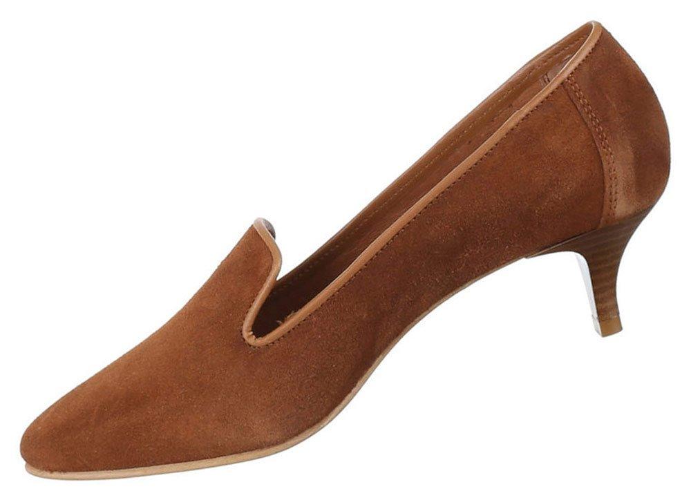 Damen Schuhe Pumps Leder Bequeme Komfort Leder Pumps Modell Nr.2camel b8bfae