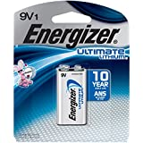 Energizer Ultimate Lithium 9V Battery, Long-Lasting Power, 100% Leak Proof Design, 10-Year Power Storage, 1-Pack