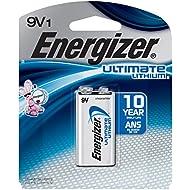 Energizer L522BP Ultimate Lithium 9V Battery (1 Count)