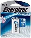 Energizer Ultimate Lithium 9V, Long-lasting Power, 100% Leak Proof Design, 10-year Power Storage, 1-pack (Packaging may vary)