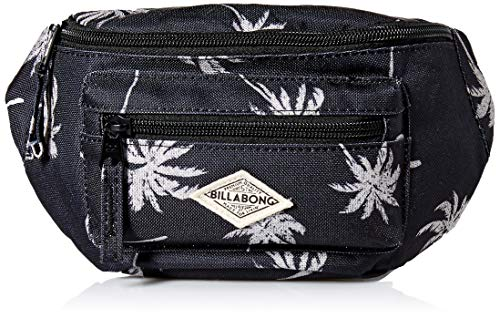 Billabong Women's Zip It Waist Bag, black/Whitecap, ONE