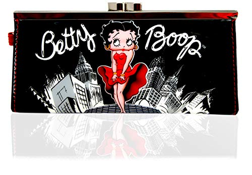 Betty Boop Clutch Purse,Women's Wallet,Lady's Purses,Official Licensed, Black, (L: 7.8