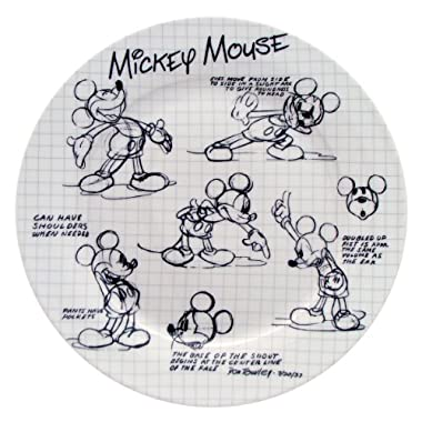 Disney Sketchbook Mickey Dinner Plate, Set of 4