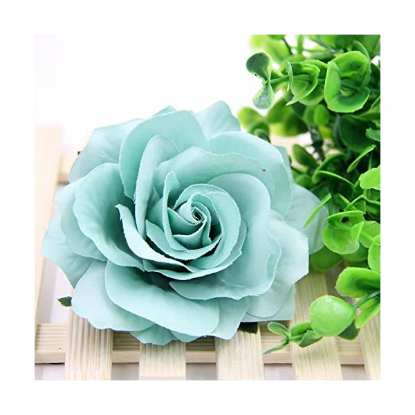 10PCS-9CM-Decorative-Artificial-rose-Flower-Heads-For-Wedding-Party-Decoration-DIY-Wreath-Gift-Box-Scrapbooking-Craft-Fake-Flowers-tiffany-blue