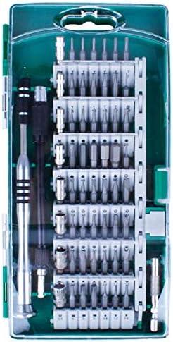 多機能ツールキット 60-IN-1分解は、携帯電話、PC、MacBookのその他の電子製品のメンテナンスに適したツールスクリュードライバーツールセット多機能クロームバナジウム鋼のドライバーセットを修復します 修理キット 収納ケース (Color : Blue, Size : 205X95x25mm)