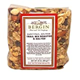 Bergin Nut Company Trail Mix, Roasted Salted, 16-Ounce Bags (Pack of 4)