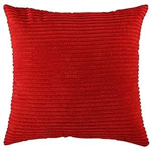 Home Brilliant Plush Velvet Corduroy Throw Euro Pillow Sham Cushion Cover For Sofa