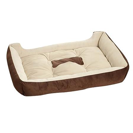 YOUJIA Cama para Mascota Suave Doggy Doghouse Cojín Basket de ...