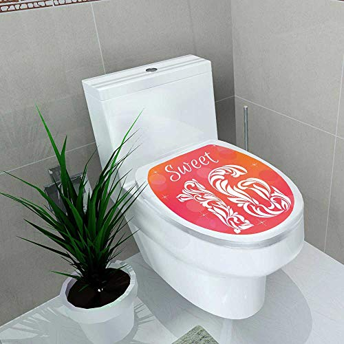 Auraise-home Decoration Bathroom Toilet Cover Sticker Bright Greeting