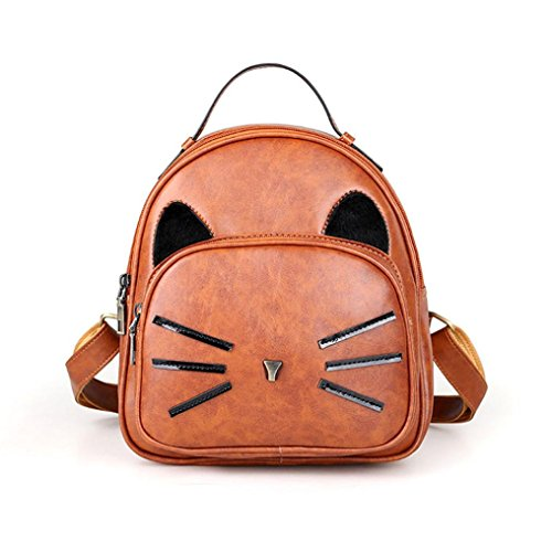 Shoulder Kolylong By Zipper Bag Cute Rucksack Khaki Girl Backpack Travel Handbag black School Women vPq40pZwc